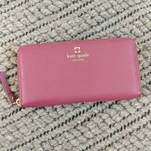 Kate Spade Pebbled Leather Lacey Wallet